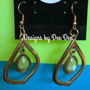Vintage Old Gold Drop Earrings